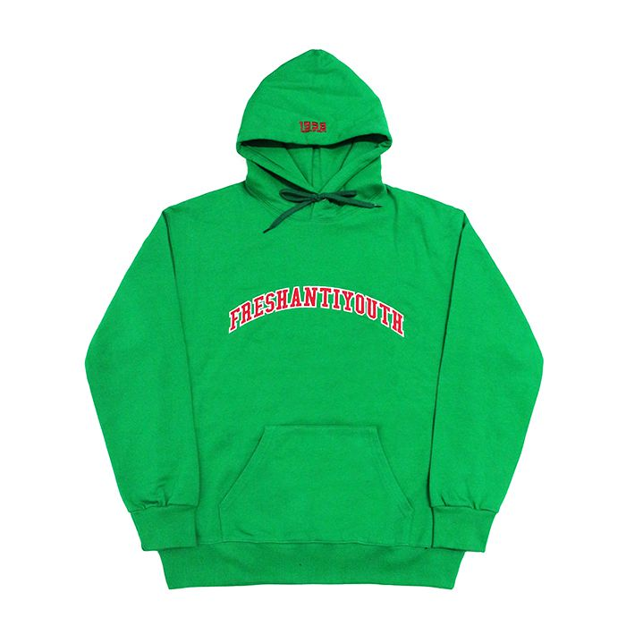 프레이 후드 1998 College Hood Sweater // Green
