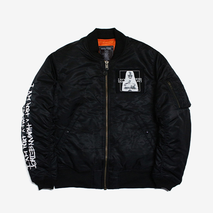아임낫어휴먼비잉 porn 6 flight jacket // black