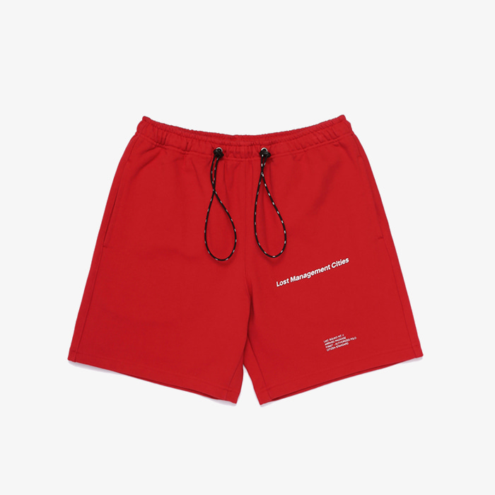 엘엠씨 LMC STRING SWEAT HALF PANTS // red