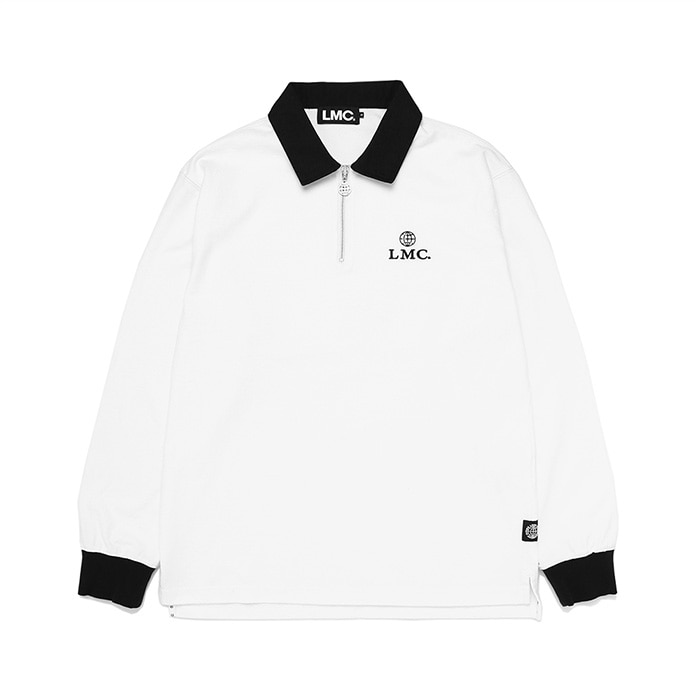 엘엠씨 ZIPPER RUGBY TEAM V LSV TEE // white (재입고)
