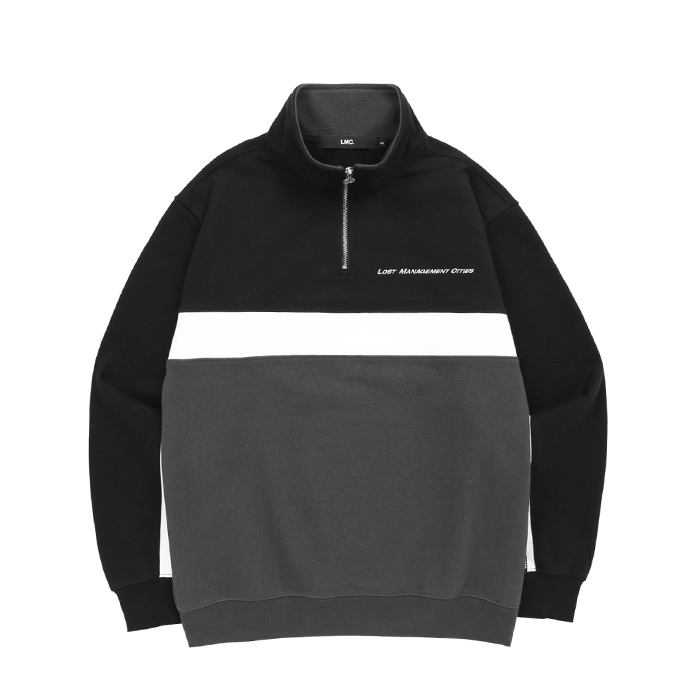 엘엠씨 LMC TRI COLOR QUARTER ZIP SWEATSHIRT/BLACK