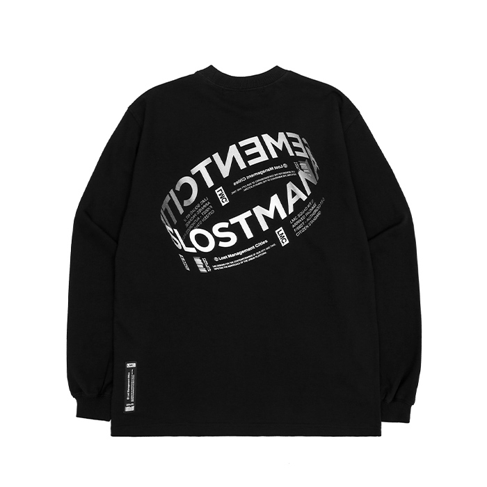 엘엠씨 롱슬리브 LMC RING LOGO LSV SWEAT TEE/BLACK