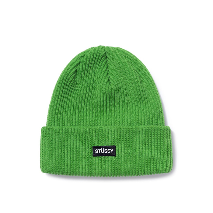 스투시 비니 SP19 SM PATCH WATCH CAP BEANIE/GREEN