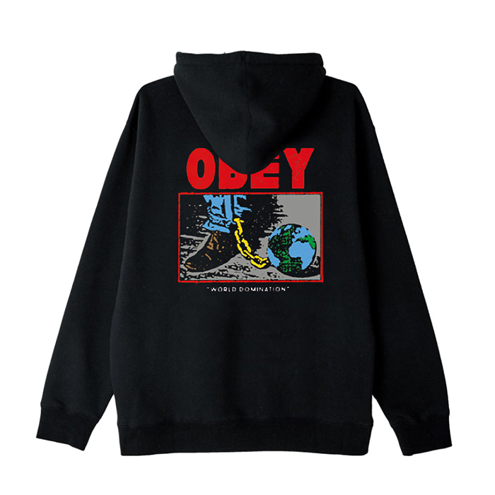 오베이 후드티 OBEY WORLD DOMINATION HOOD/BLACK