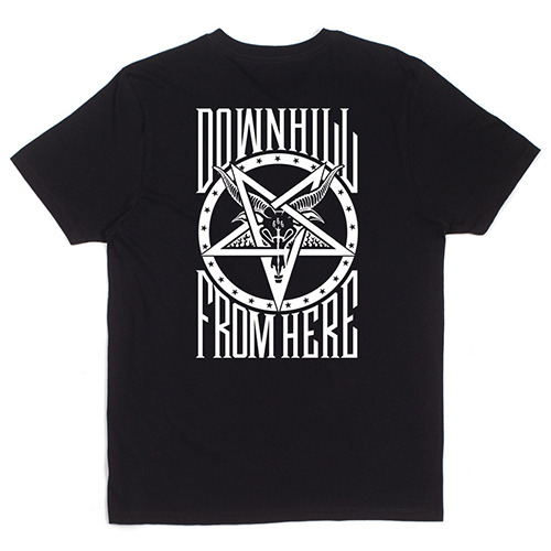 허프 트레셔 콜라보 HUF X THRASHER DH FROM HERE TEE / BLACK ~2XL (115 size)