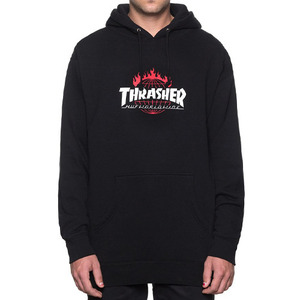 허프 트레셔 콜라보 후드 thrasher tour de stoops hood // black