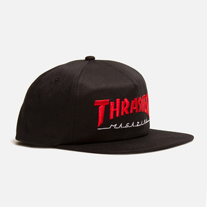 트레셔 MAGAZINE LOGO TWO-TONE HAT // BLACK/RED