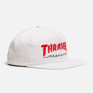 트레셔 MAGAZINE LOGO TWO-TONE HAT // WHITE/RED