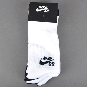 나이키SB   NIKE SB 1PAIR  CREW SOCKS // WHITE/BLACK