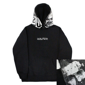 아임낫어휴먼비잉  후드  world wide outcast hoodie // black