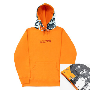 아임낫어휴먼비잉 후드 world wide outcast hoodie // orange