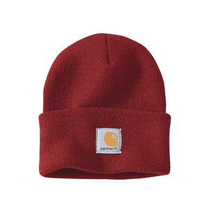 칼하트 비니 acrylic watch hat beanie   // dark crimson