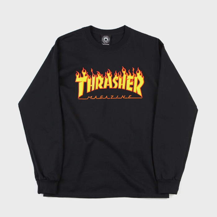 트레셔 FLAME LONG SLEEVE // BLACK