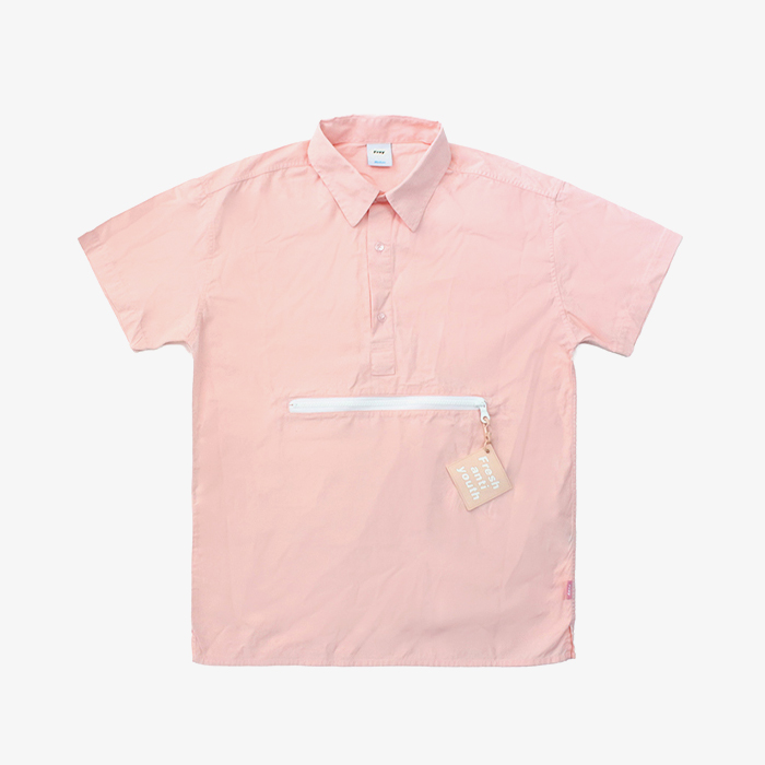 프레이 Zipper Pocket Shirts // Pink