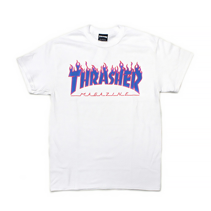 트레셔 재팬 THRASHER JAPAN FLAME 3C // WHITE/BLUE