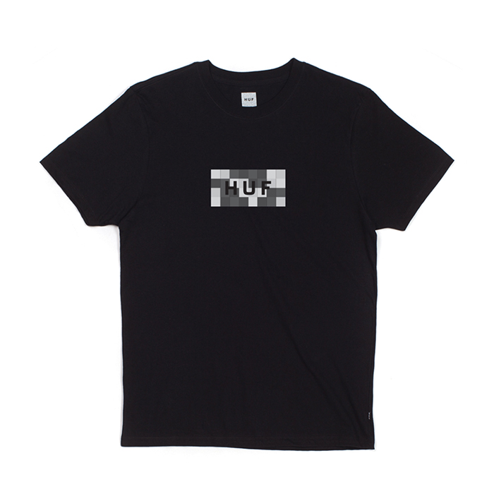 허프 COLOR BLOCK BAR LOGO TEE // BLACK