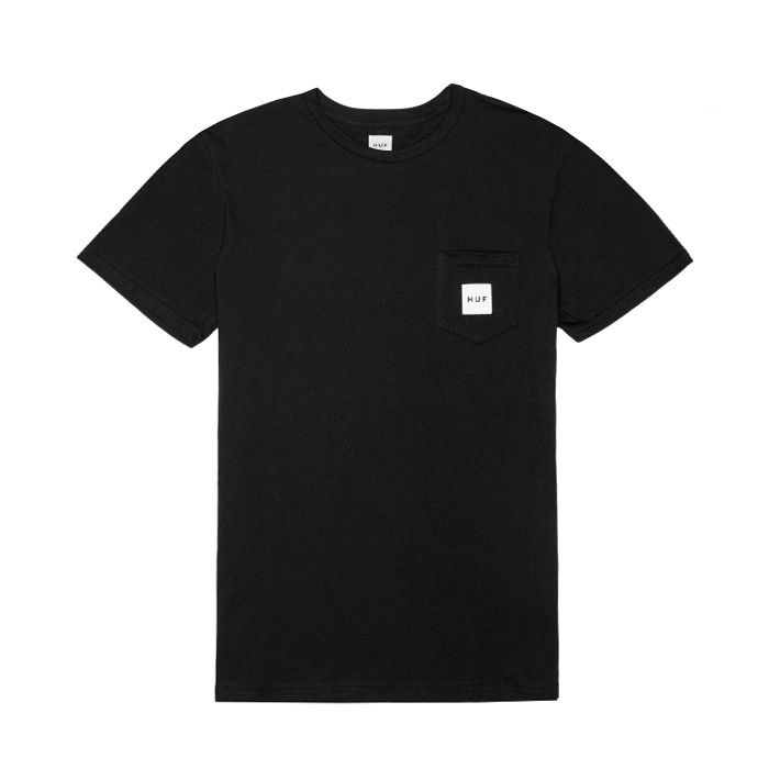 허프 BOX LOGO POCKET TEE // BLACK