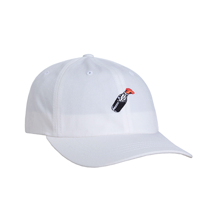 허프 볼캡  COCKTAIL HR CURVED VISOR 6 PANEL // WHITE