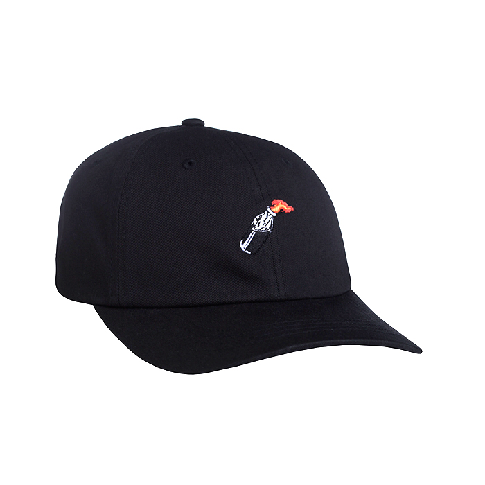 허프 볼캡 COCKTAIL HR CURVED VISOR 6 PANEL // BLACK