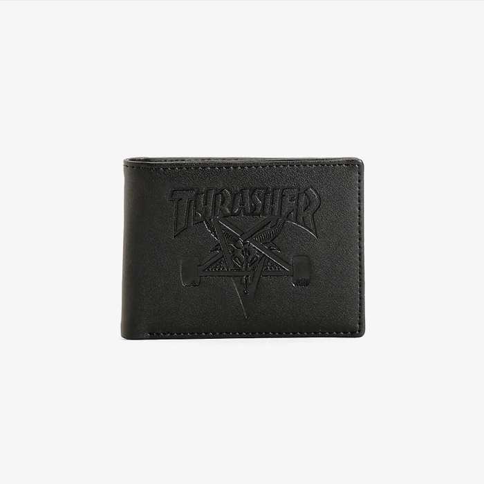 트레셔 SKATE GOAT LEATHER WALLET BLACK