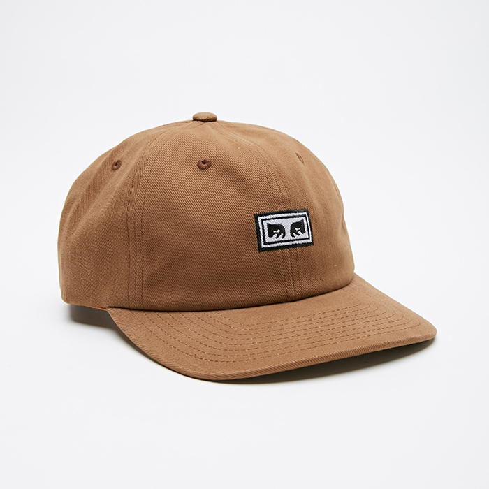 오베이  SUBVERSION 6 PANEL SNAPBACK // BONE BROWN