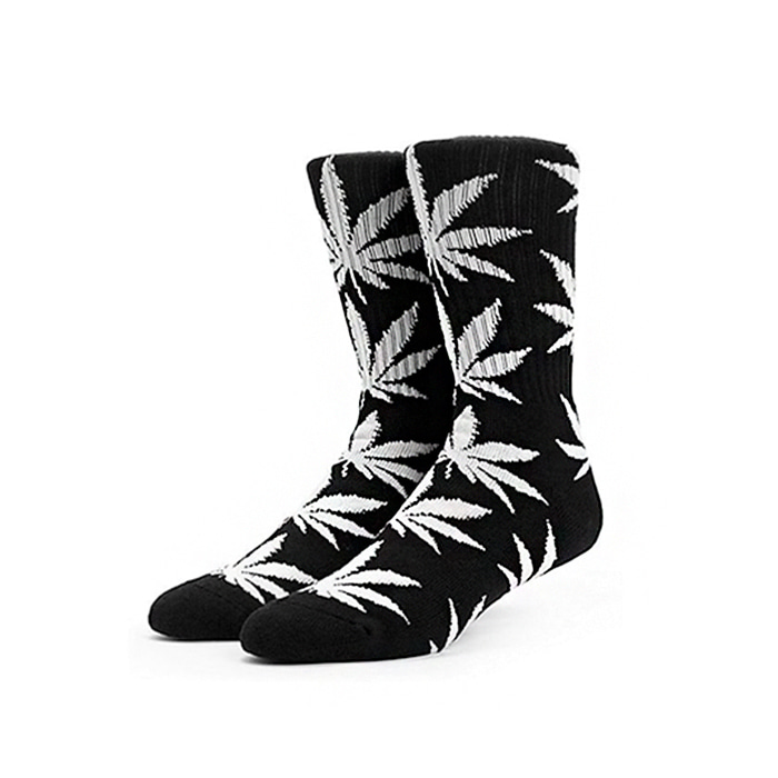 허프  PLANTLIFE CREW SOCKS //  BLACK/WHITE