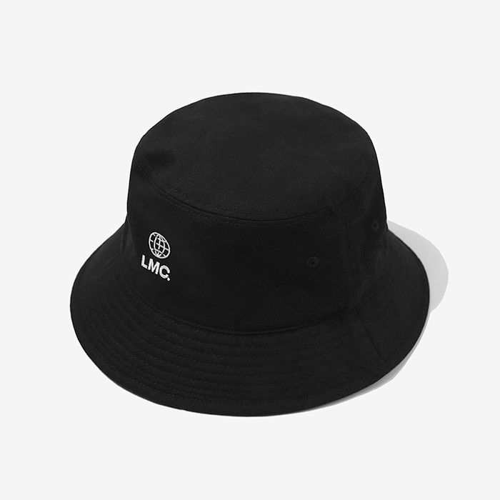 엘엠씨 버킷햇 LMC GLOBE LOGO BUCKET HAT // black
