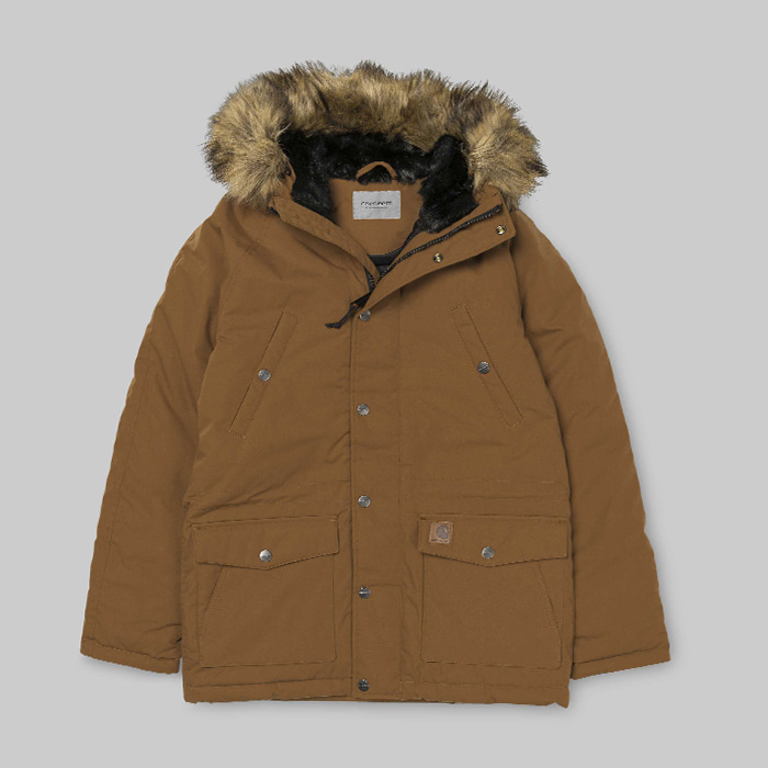 칼하트WIP  TRAPPER PARKA // HAMILTON BROWN/BLACK
