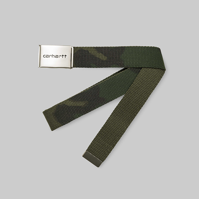 칼하트WIP   CLIP BELT CHROME // CAMO COMBAT GREEN