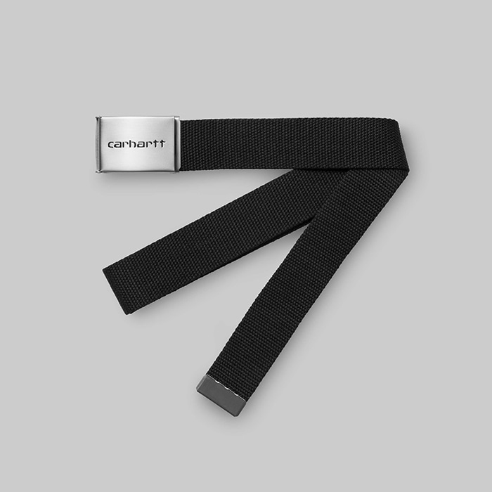 칼하트WIP  CLIP BELT CHROME // BLACK