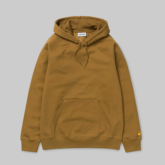 칼하트 WIP 후드  HOODED CHASE SWEAT // HAMILTON BROWN