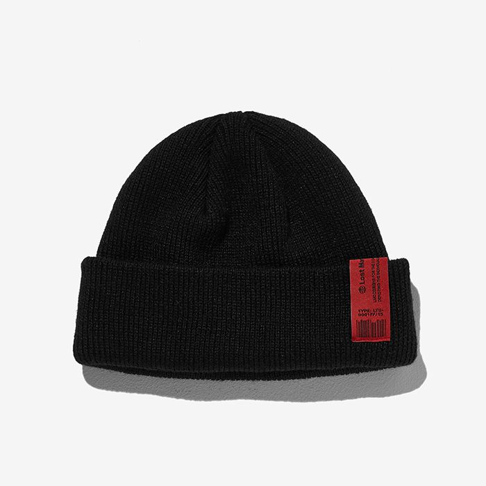 엘엠씨 비니 LMC PNT LABEL BEANIE // black