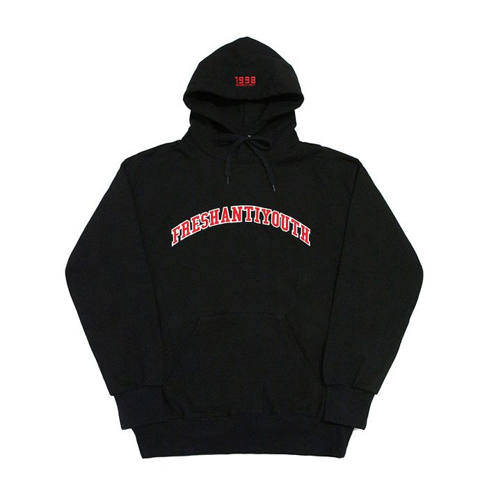 프레이 후드 1998 College Hood Sweater // Black