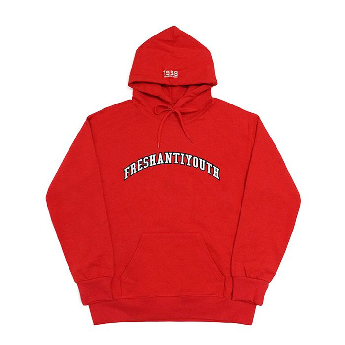 프레이 후드 1998 College Hood Sweater // Red