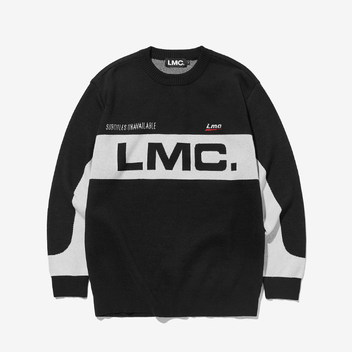 엘엠씨 RACING JACQUARD KNIT SWEATER // black