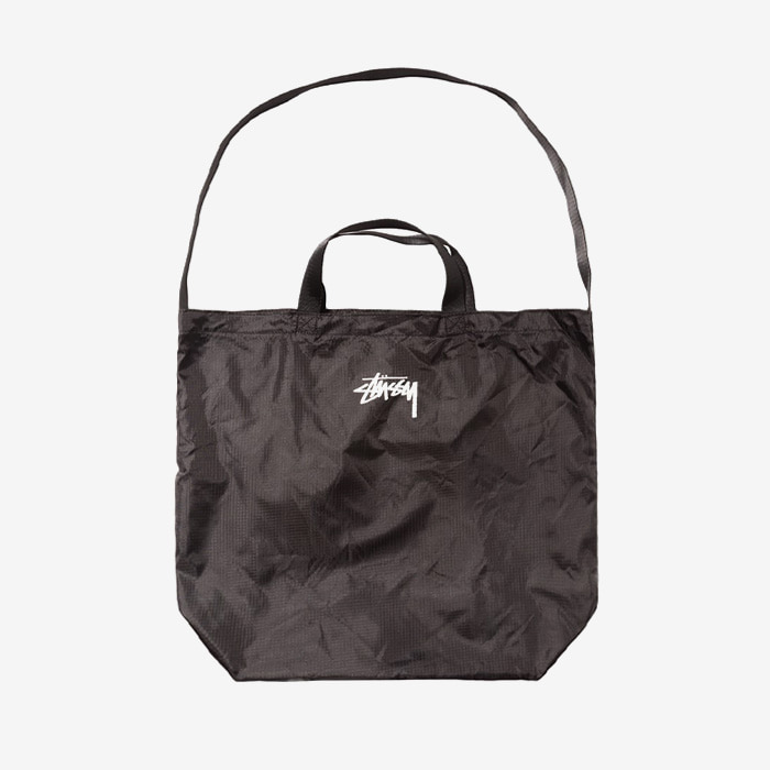 스투시 가방 STOCK NYLON RIPSTOP TOTE // BLACK