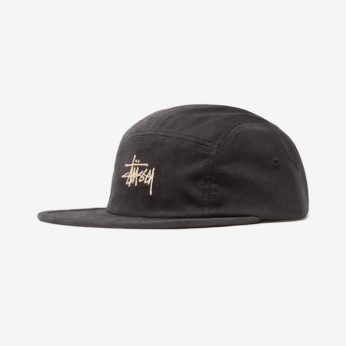 스투시 캠프캡 STOCK LOGO CAMP CAP // BLACK