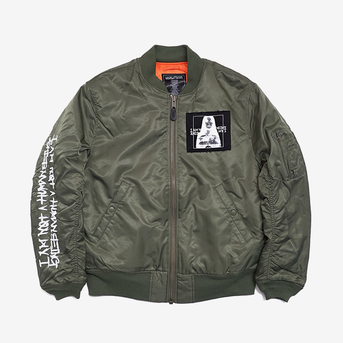 아임낫어휴먼비잉 porn 6 flight jacket // khaki