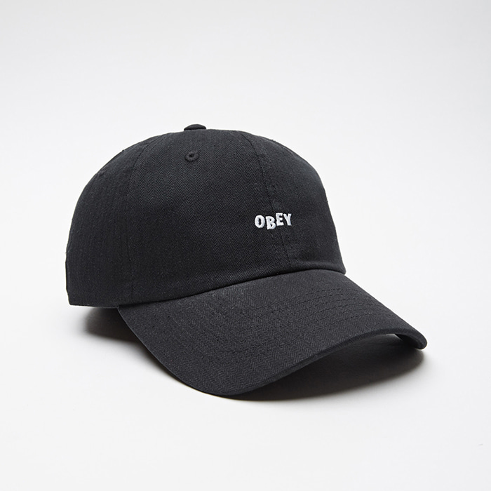 오베이 MEDLEY 6 PANEL HAT // BLACK