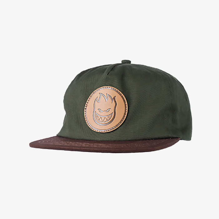 스핏파이어 BIGHEAD CIRCLE PATCH SNAPBACK // DARK ARMY/BROWN