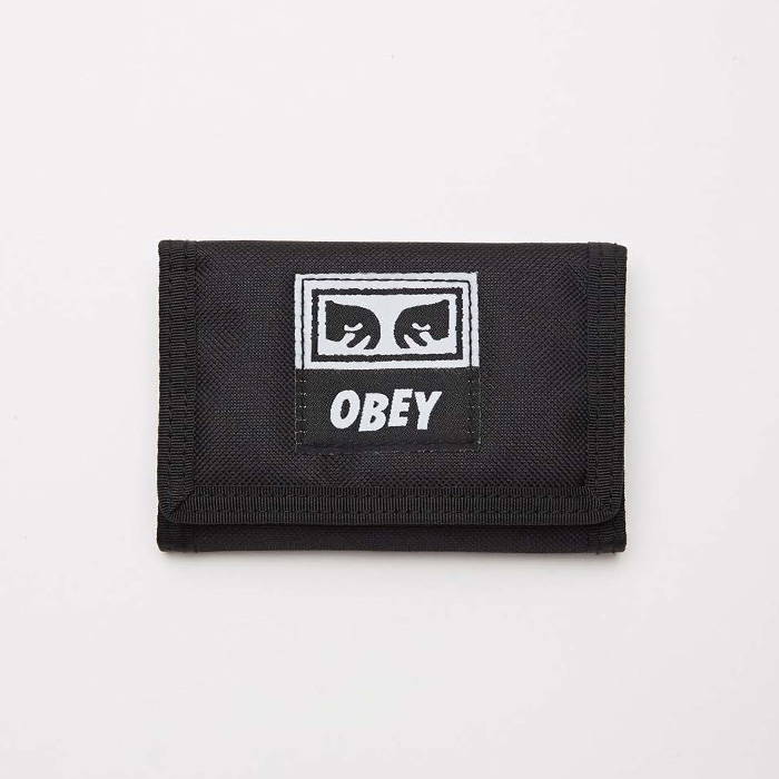 오베이 DROP OUT TRI FOLD WALLET // BLACK