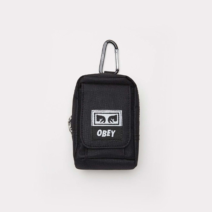 오베이 DROP OUT UTILITY SMALL BAG // BLACK