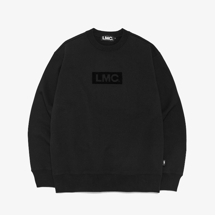 엘엠씨 LMC FLUFFY BOX LOGO SWEATSHIRT // BLACK