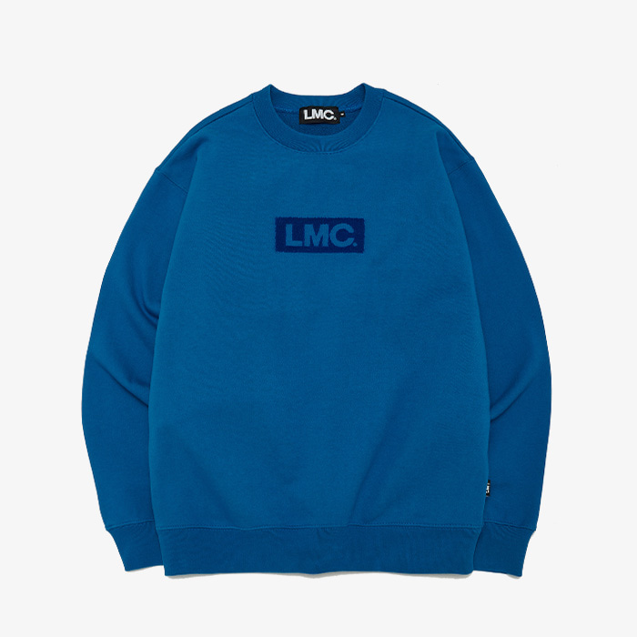 엘엠씨 LMC FLUFFY BOX LOGO SWEATSHIRT // AQUA BLUE