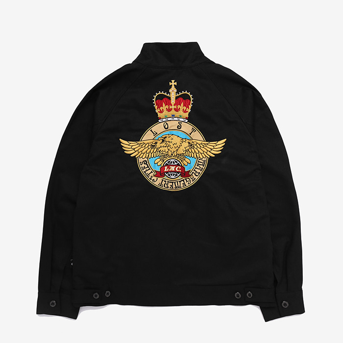 엘엠씨 LMC ROYAL EMB HARRINGTON JACKET // black