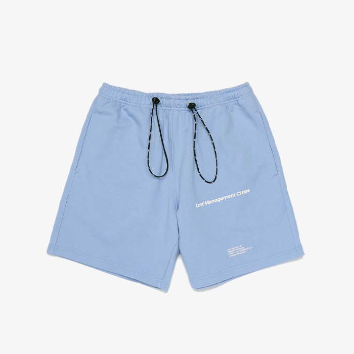 엘엠씨 LMC STRING SWEAT HALF PANTS // powder blue