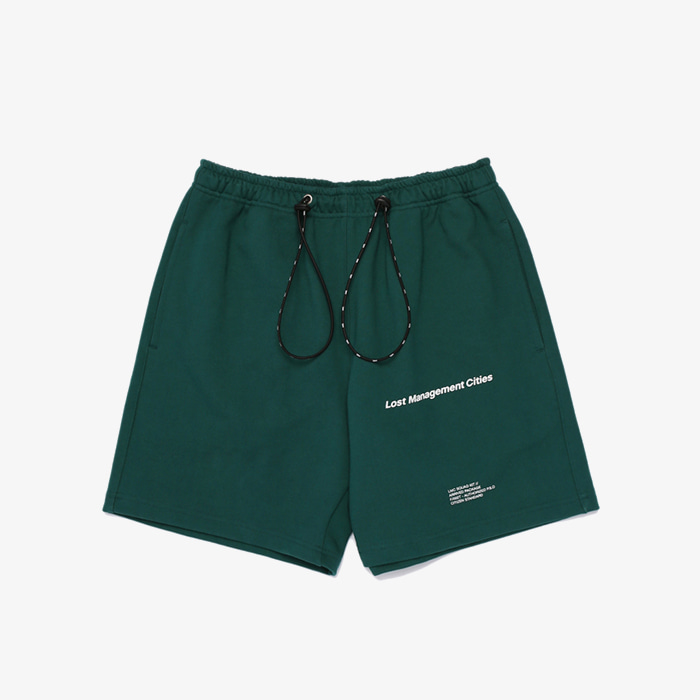 엘엠씨 LMC STRING SWEAT HALF PANTS // green