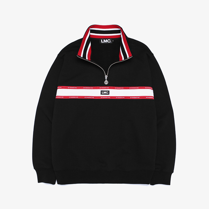 엘엠씨 LMC LOGO TAPED QUARTER ZIP SWEATSHIRT // black