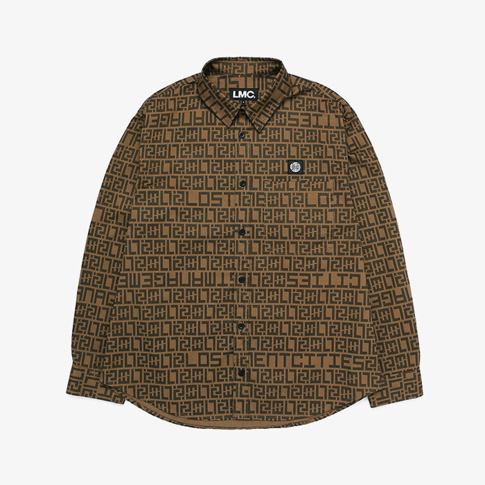 엘엠씨 LMC LUX PTTN SHIRT // brown