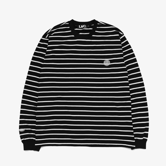 엘엠씨 LMC BUTTON PATCH STRIPE LSV TEE // black
